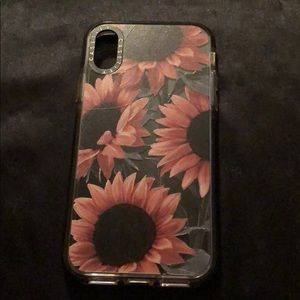 Casetify iPhone X sunflower case